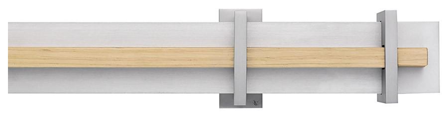 81 Alluminio satinato opaco - B Rovere naturale