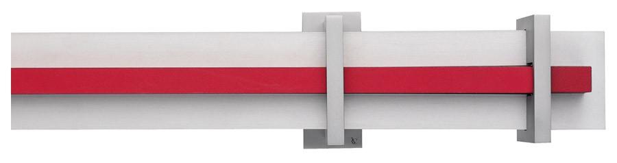 81 Alluminio satinato opaco - RO Rosso