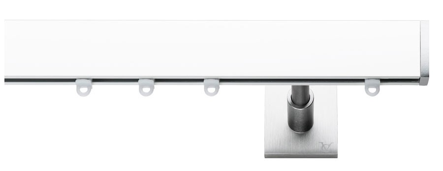 2BNL Alluminio laccato bianco - Acciao satinato   - AVE