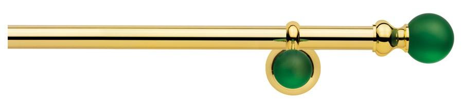 01 Ottone lucido verniciato - 7024 Verde  ∅20