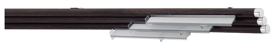 67 Alluminio lucido - WE Wengè  ∅20