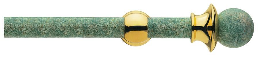 42 Ottone verde Firenze - Ottone lucido verniciato    ∅30