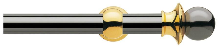 11 Ottone nichel nero - Ottone lucido verniciato   ∅35
