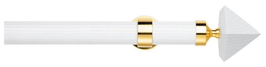 32 Legno - Ottone lucido verniciato  - G-Wood Bianco laccato  - ROBERTA ∅35