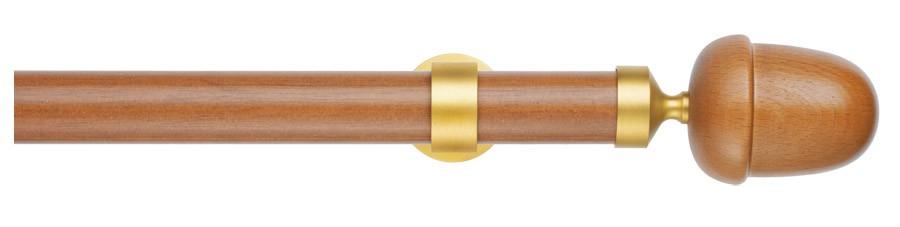 37 Legno ottone satinato - E-Wood Quercia  - SILVANA ∅35