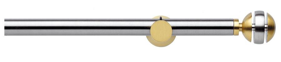 159 Satin stainless steel - Satin brass   - DESIRE' ∅20
