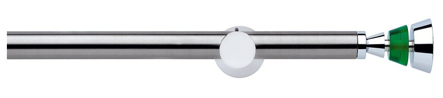 194 Satin stainless steel - Polished chrome - 03V Chrome - Green  - MARINELLA ∅20